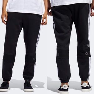 Adidas Black Jogger Fleece Sweat Pants